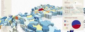 3D interactive visualization of election results